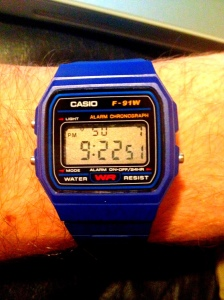 Dark blue digi Casio