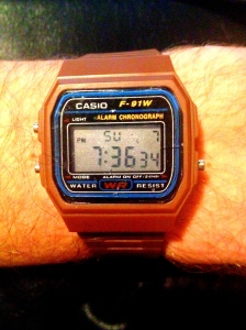 Brown digi Casio