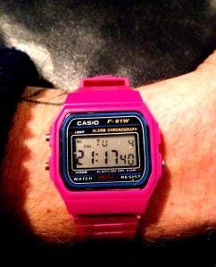 Pink digi Casio