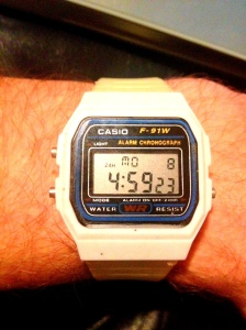 White digi Casio