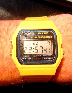 Yellow digi Casio