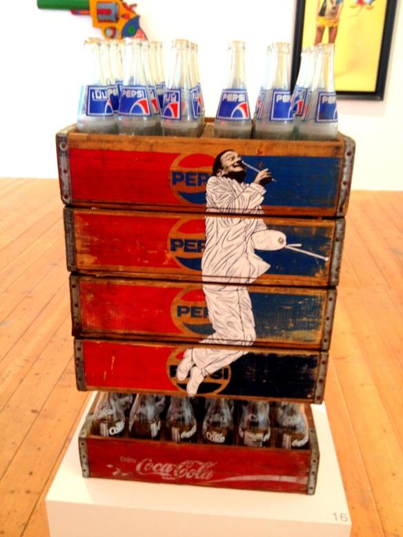 Dali on Pepsi Crates