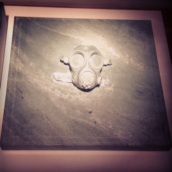 Gas mask in marble